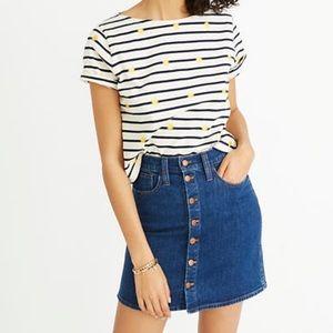 Madewell denim skirt button up Size XS